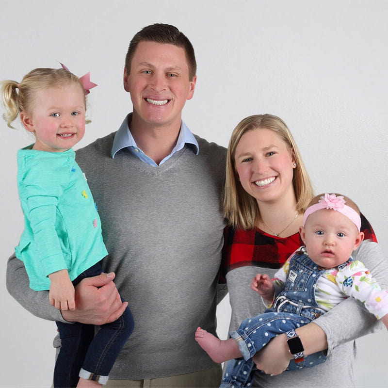 Your dentist in Fargo, ND, Dr. Vetter, with his family